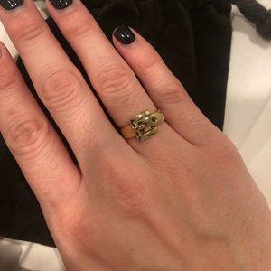 Gold Michael Kors belt ring